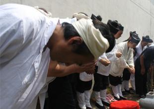 西安万寿八仙宫举行吴宗乾道长羽化三周年立碑仪式