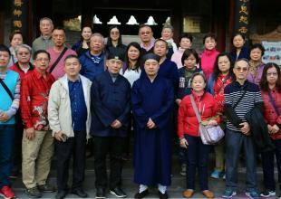 新加坡玉虚道教协会陈军荣道长一行来西安八仙宫参访交流
